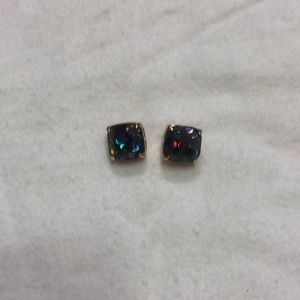 Multi color stone with gold earrings